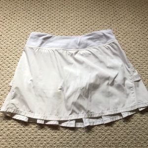 Ivivva White Set the Pace Ruffle Skirt 14 girls